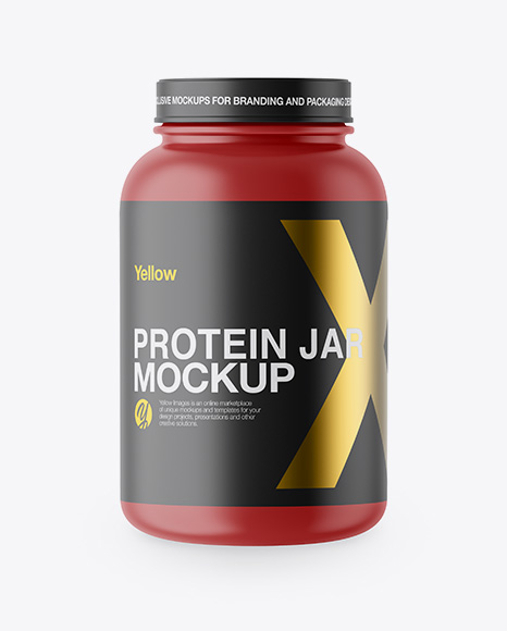 Download Matte Protein Jar Mockup Object Mockups
