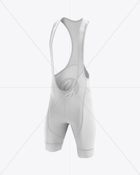 Men's Cycling Bib Shorts mockup (Half Side View)