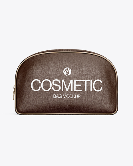 Download Leather Cosmetic Bag Mockup Object Mockups