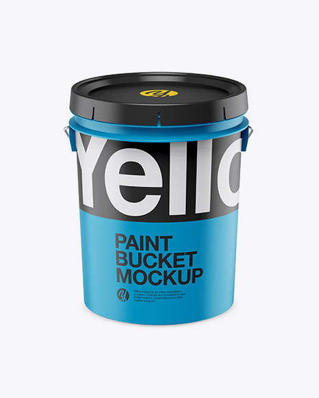 Download Free Matte Plastic Bucket Mockup - Front View (High -Angle Shot) PSD Template