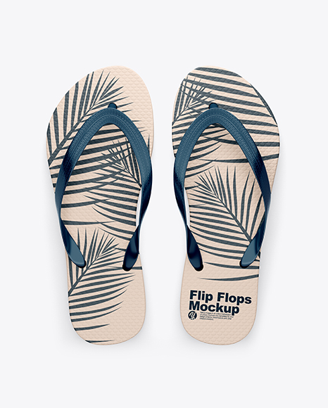 8cc16e188 Flip Flops Mockup - Top View - All Mockup Free Acces Today