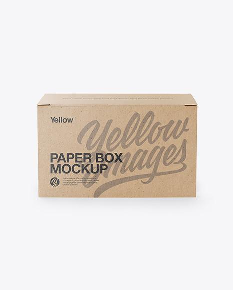 Download Kraft Box Mockup - Front View Object Mockups