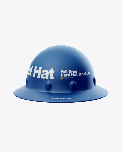 Download Full Brim Hard Hat Mockup Front View Yellowimages