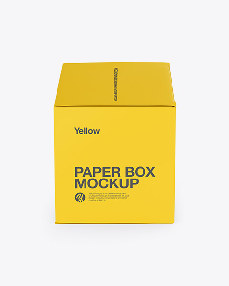 Download Free Paper Box Mockup - Side View (High-Angle Shot) PSD Template