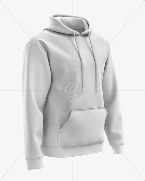 Men's Heavyweight Hoodie mockup (Right Half Side View)