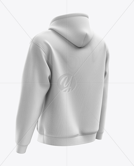 Men's Heavy Blend Hoodie mockup (Back Half Side View)