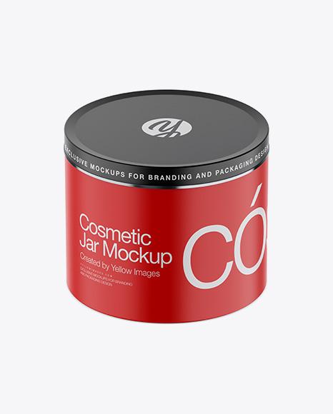 Download Matte Metallic Cosmetic Jar Mockup High Angle Shot PSD - Free PSD Mockup Templates
