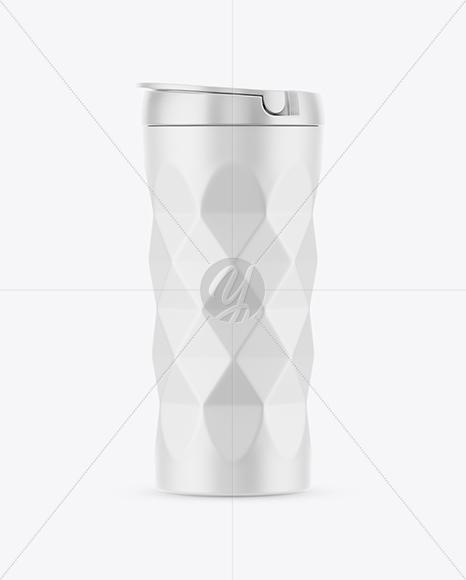 420ml Matte Vacuum Coffee Cup Mockup
