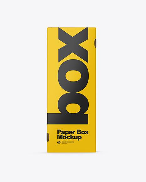 Download Matte & Metallic Paper Box Mockup Object Mockups