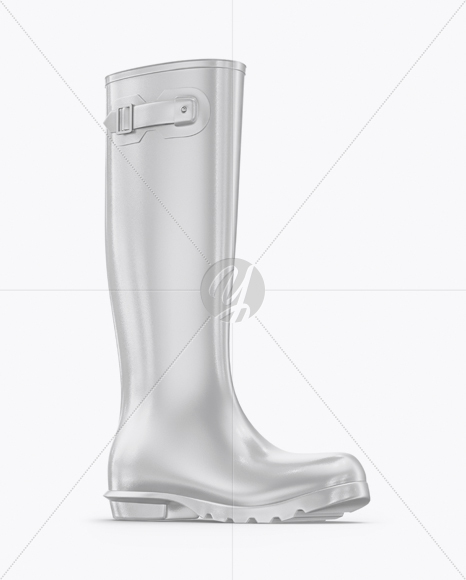 Download Rain Boots Mockup Half Side View Yellowimages