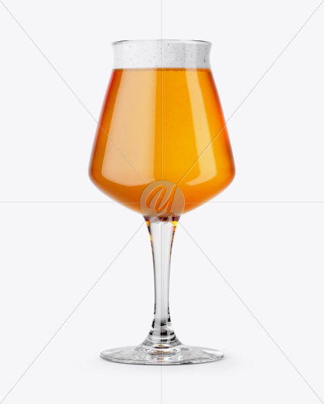 Teku Glass With Hazel Orange Beer Mockup
