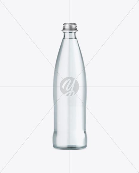 Clear Glass Water Bottle Mockup In Bottle Mockups On Yellow