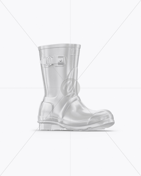 Download Rain Boot Mockup Half Side View Yellowimages