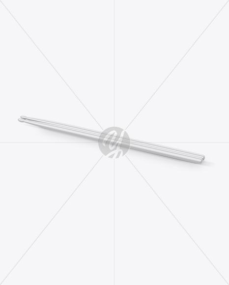 Glossy Drumsticks Mockup - Half Side View