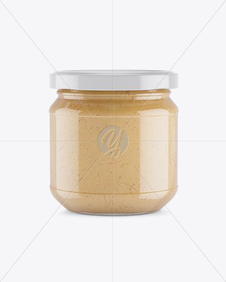 Glass Jar With Oriental Spread Mockup