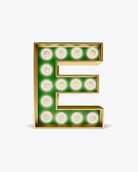 Download Letter E Light Bulb Sign Mockup Object Mockups