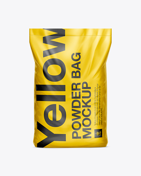 10kg Powder Bag Mockup