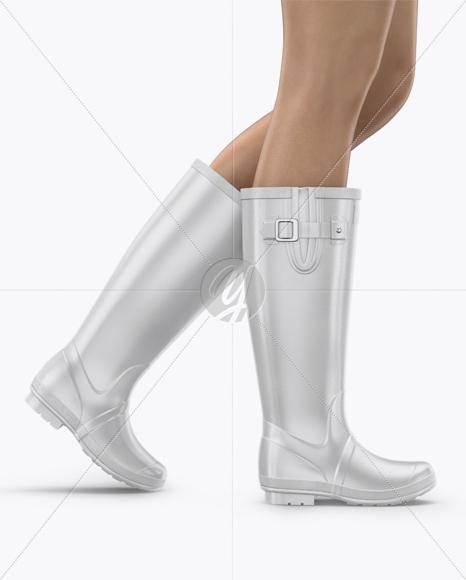 Rain Boots Mockup - Half Side View