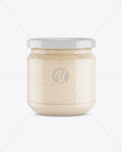 Glass Jar With Onion Spread Mockup