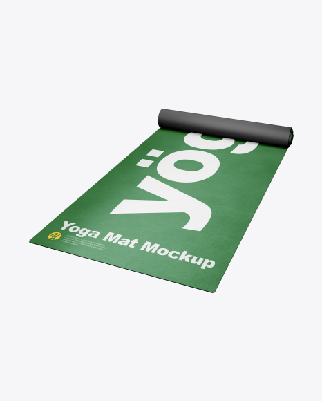 Download Free Yoga Mat Mockup - Half SIde View (High-Angle Shot) PSD Template
