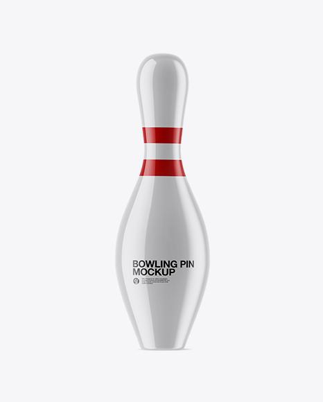 glossy bowling pin mockup download free mockup psd template