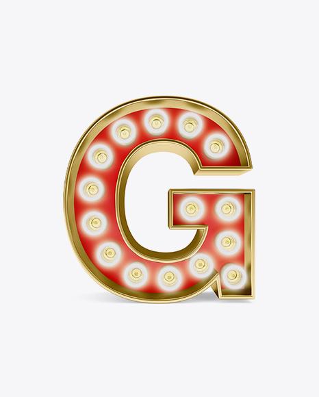 Download Letter G Light Bulb Sign Mockup Object Mockups