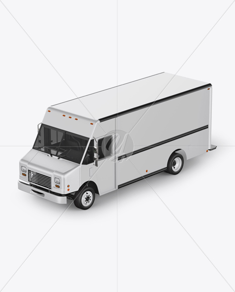 Food Truck Mockup - Left Half Side View
