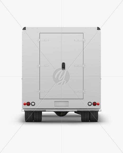 Food Truck Mockup - Back View