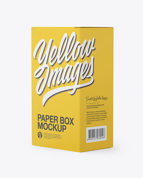 Download Free Paper Box Mockup - Half Side View PSD Template