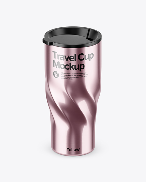 Download 390ml Stainless Steel Travel Cup Mockup (High-Angle Shot) Object Mockups