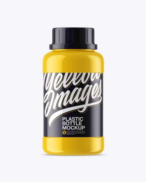 Download Glossy Plastic Bottle Mockup Object Mockups