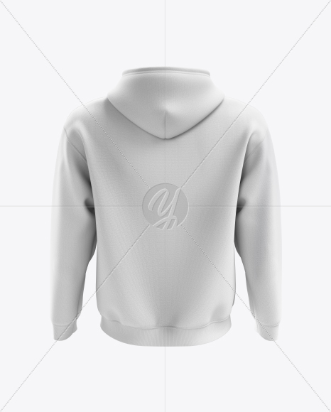 Men's Full-Zip Hoodie mockup (Back View)