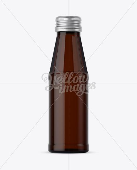 100ml Dark Amber Glass Bottle Mockup