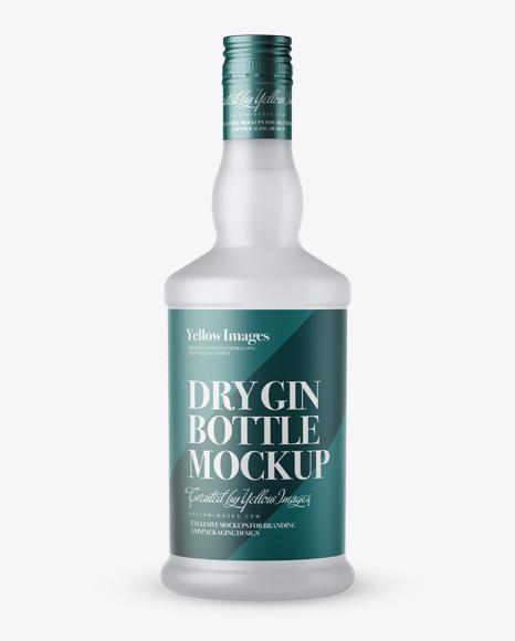 Download Frosted Glass Gin Bottle Mockup Object Mockups