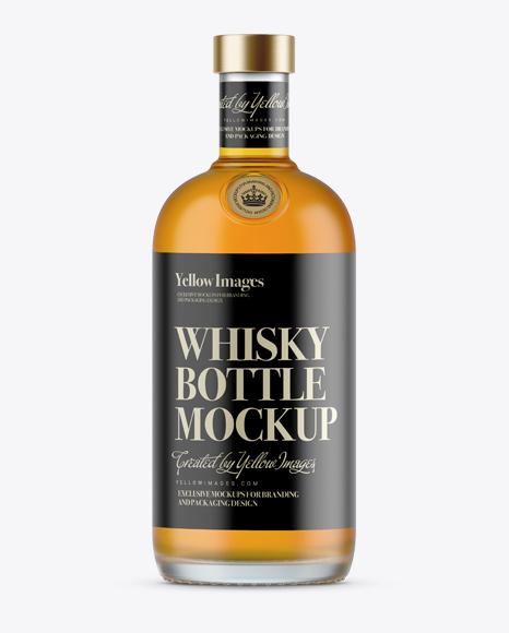 Download 700ml Matte Glass Whiskey Bottle Mockup Object Mockups