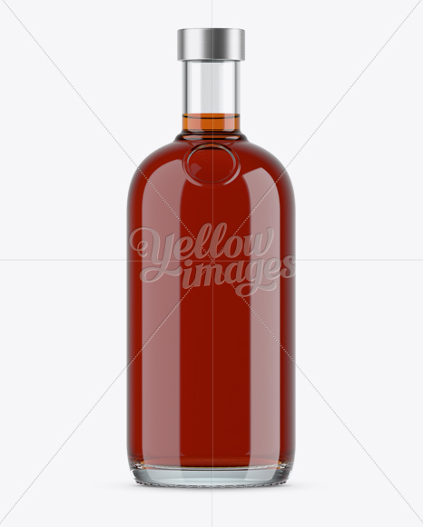 Download 700ml Clear Glass Cognac Bottle Mockup PSD - Free PSD Mockup Templates