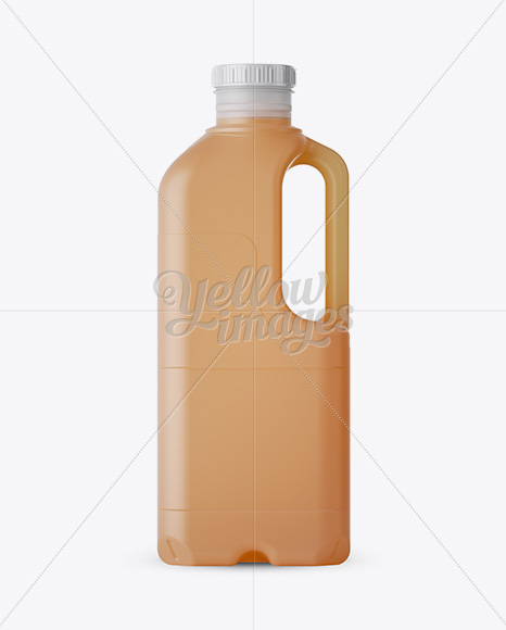 Frosted Plastic Juice Jug Mockup