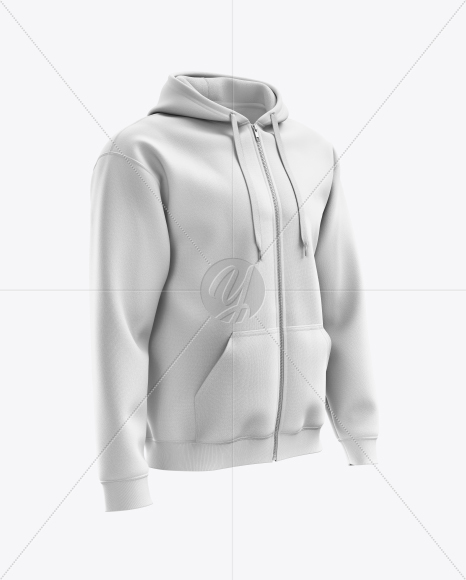 Download Hoodie With Zipper Mockup Back View Yellow Images