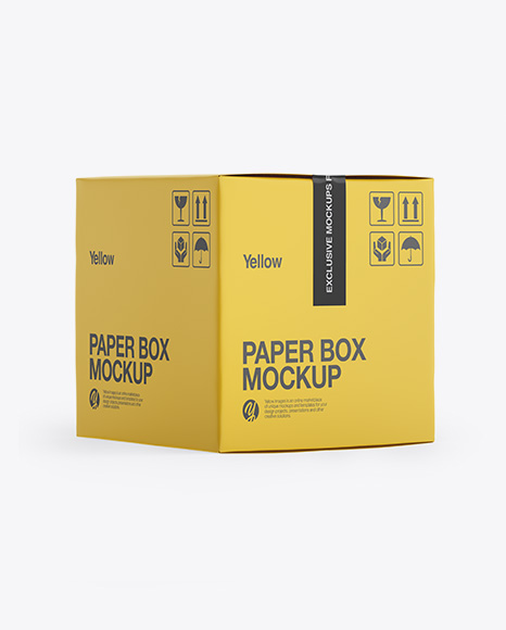 Download Paper Box Mockup - Side View (High-Angle Shot) Object Mockups