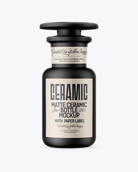 Download Matte Ceramic Bottle Mockup Object Mockups