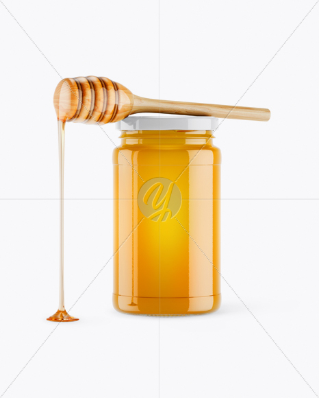 Download Honey Jar Mockup Front View In Jar Mockups On Yellow Images Object Mockups Yellowimages Mockups