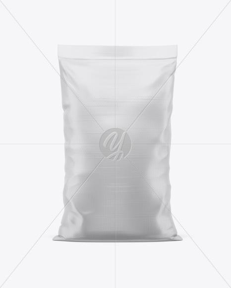 Polypropylene Bag Mockup - Front View