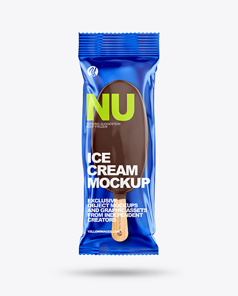 Download Ice Cream Bar Mockup In Flow Pack Mockups On Yellow Images Object Mockups PSD Mockup Templates