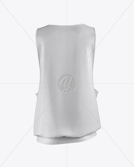 Baggy Tank Top Mockup - Back View