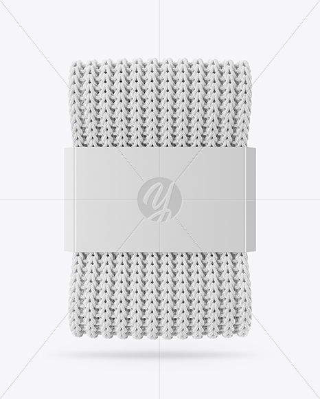 Download Knitted Scarf With Paper Label Mockup Yellowimages
