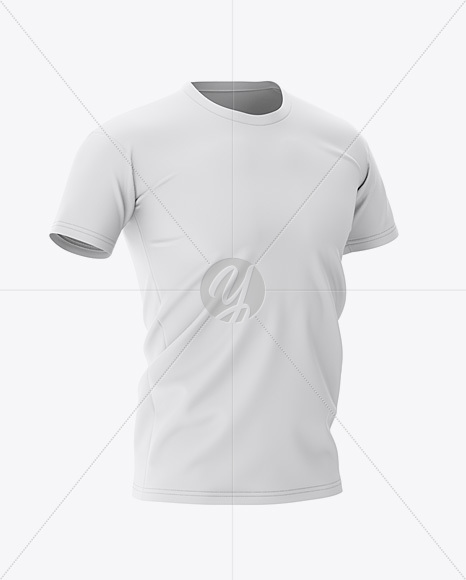 Men's Football Jersey Mockup - Half-Side View