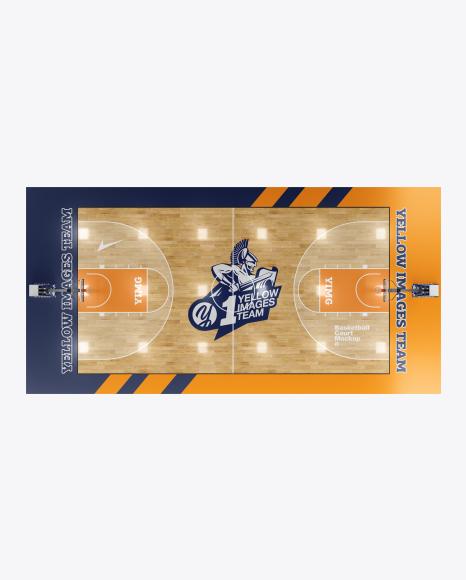 basketball court psd basketball court mockup - top view psd template - download