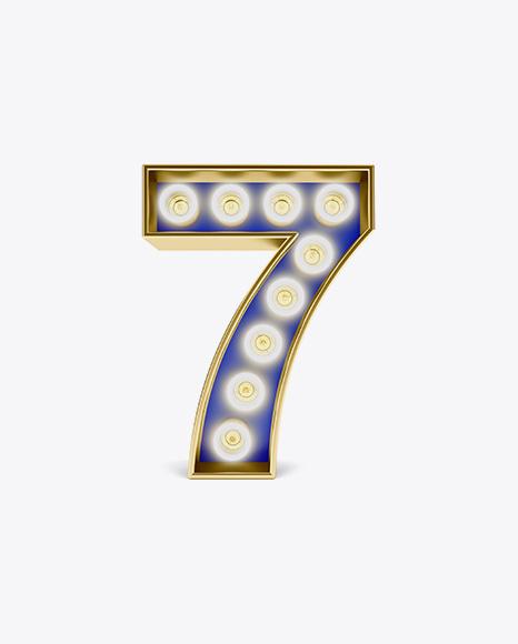 Light Number Mockup