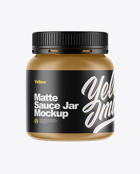 Download Matte Sauce Jar Mockup Object Mockups