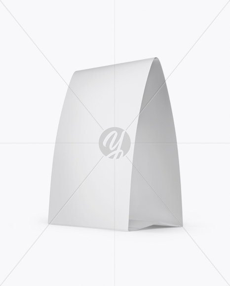 matte paper table tent mockup half side view in indoor advertising